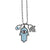 .Silver Necklace with Hamsa Pendants