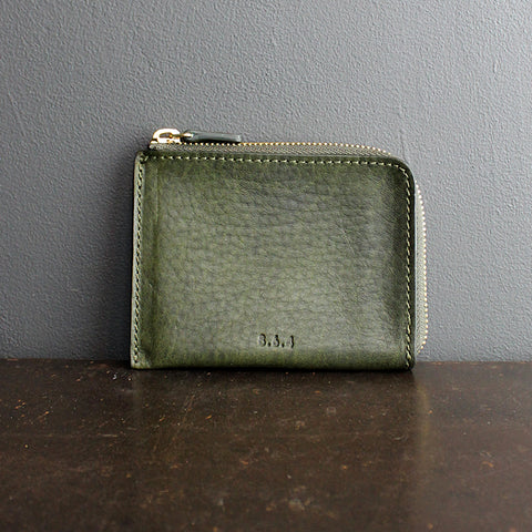 .Green Leather Wallet
