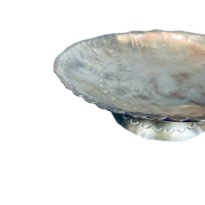 Silver Scalloped Edge Bowl