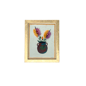 .Original Framed Painting - Flower Pot
