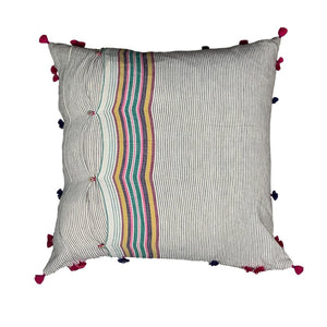 "Multi Colored Handmade Pillow - 24"" x 24"""