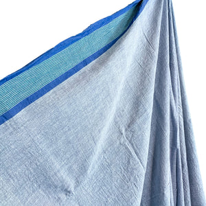 Blue Chambray Cotton Textile