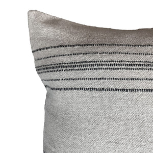 ".Neutral + Black Stripe Pillow - 20"" x 20"""