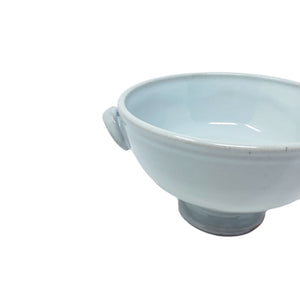 Blue Handmade Pedestal Bowl - Short