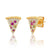 Multi Colored Pizza CZ Stone Earrings