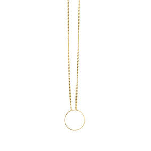 Gold 14K O Necklace *more sizes available*