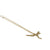 .Gold 14K Dragonfly Necklace with Diamond