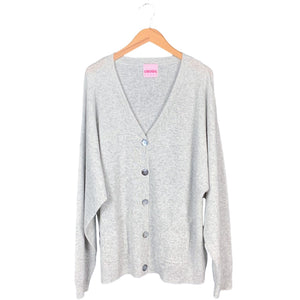 Grey Cashmere Button Sweater