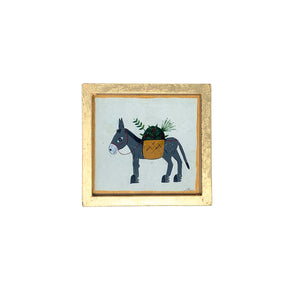 .Original Framed Painting - Donkey