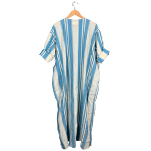 Blue + Cream Stripe Dress