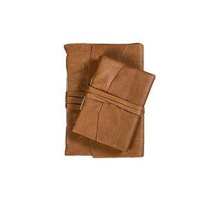 Brown Leather Journal with Handmade Paper *more sizes available*