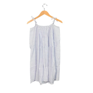 Blue + White Cotton Night Dress