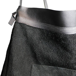 Black Suede + Leather Bag