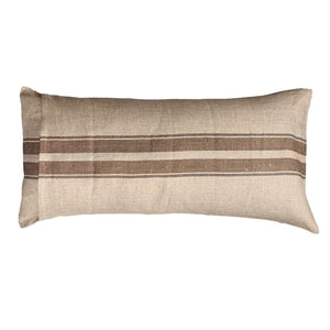 ".Neutral + Brown Stripe Lumbar Pillow - 31 1/2""x 16"""