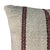 ".Cream + Burgundy Stripe Handwoven Wool Pillow - 24"" x 15"""