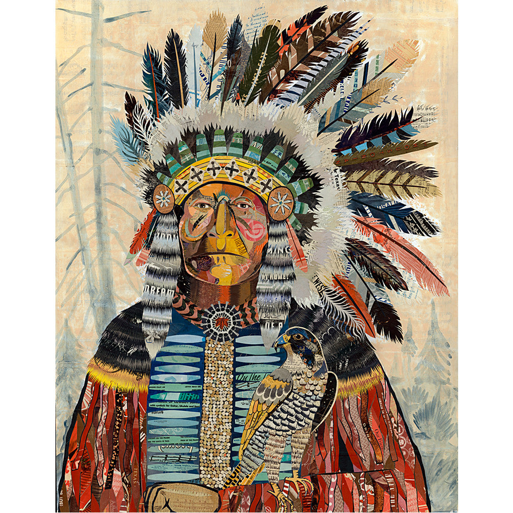 Multi Colored Print - Indian Chief #2