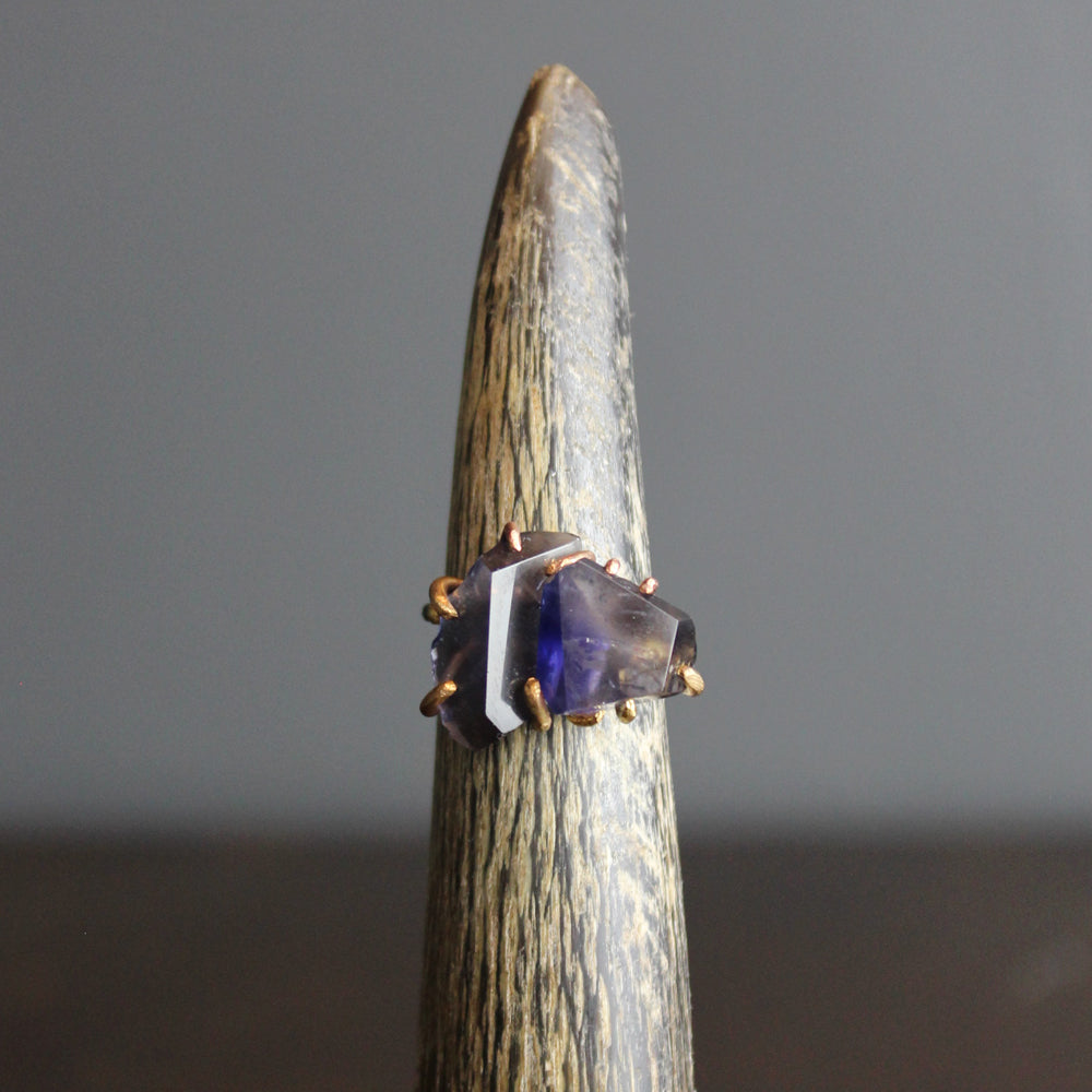 Blue Iolite Stacked Ring