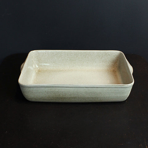 .Cream Rectangle Dish