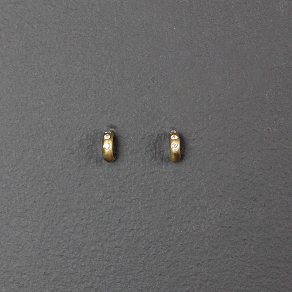 Gold + Diamond Mini Cuff Earrings
