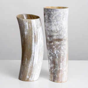Brown Horn Vase - Extra Tall