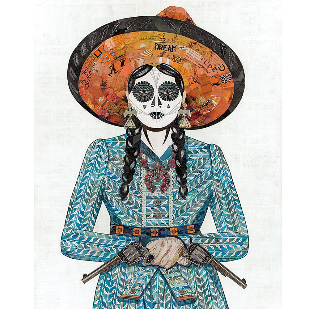 Multi Colored Print - Adelita in Blue