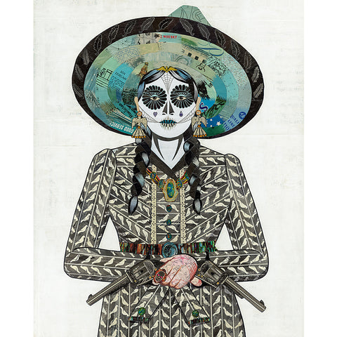 .Multi Colored Print - Adelita in Gray