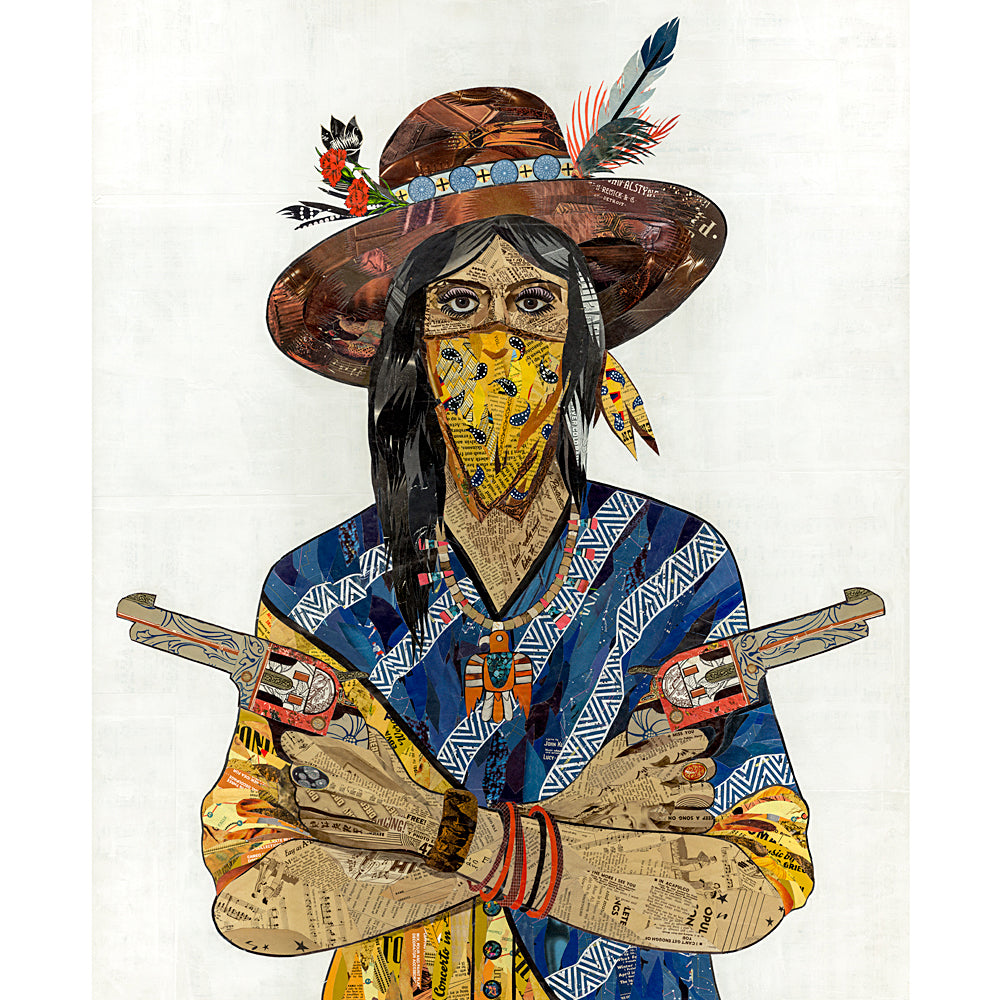Multi Colored Print - Cowgirl with Bandana #1
