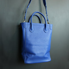Blue Handmade Leather Bag