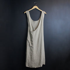 .Neutral Linen Apron