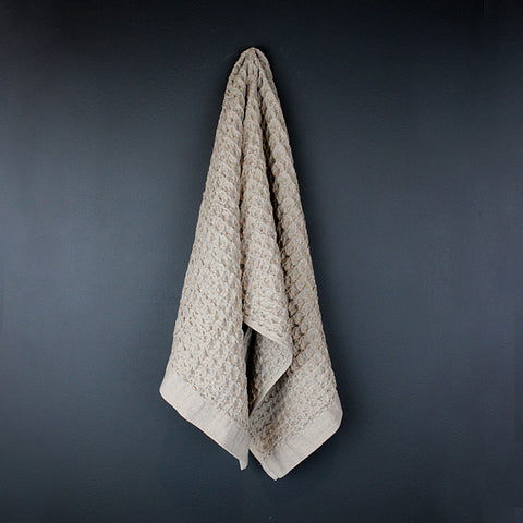 Beige Cotton Hand Towel