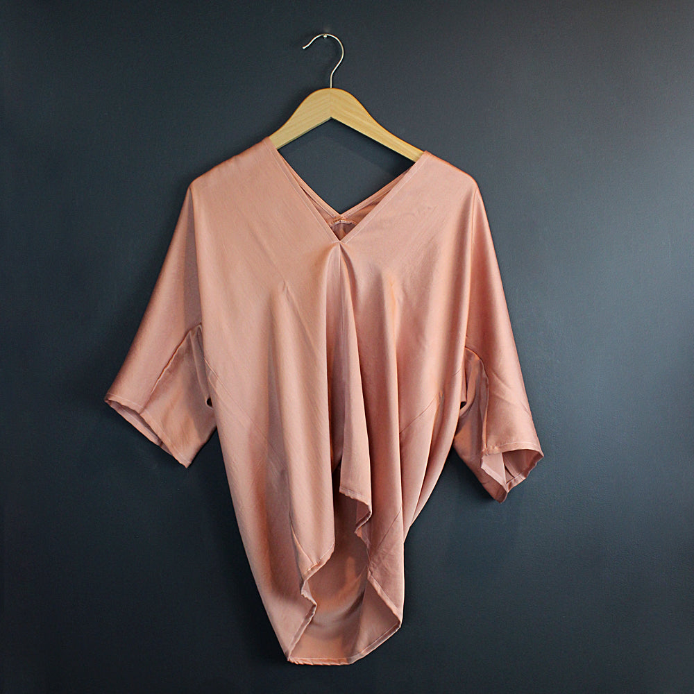 Pink Handmade Silk Top