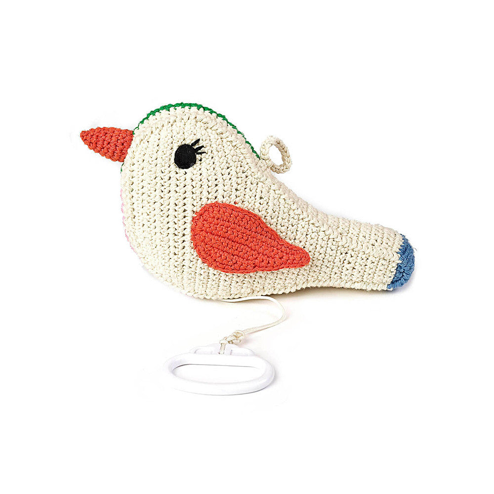 Hand Crochet Bird Music Box