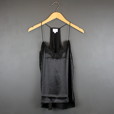 .Black Silk Charmeuse