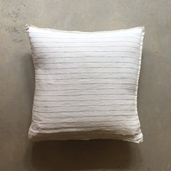 "White + Black Stripe Linen Pillow - 20"" x 20"""