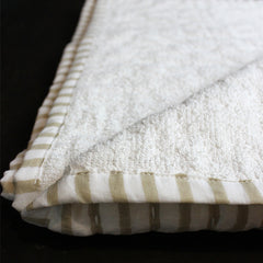 Brown + White Bath Towel