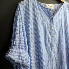 Blue + White Stripe Caftan
