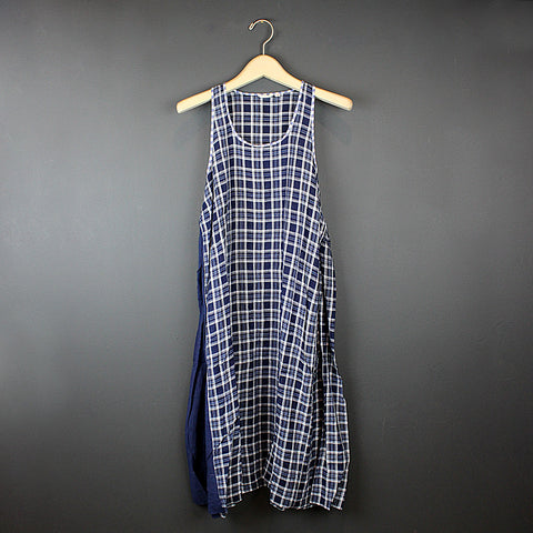 .Blue Cotton Slip Dress