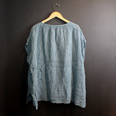 Blue Jess Poncho Top