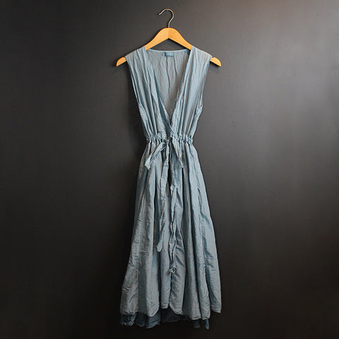 .Blue Silk Julia Dress
