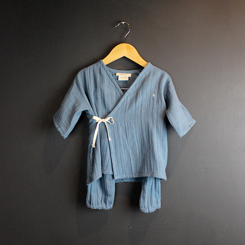 .Blue Cotton Kids Kimono Set *More Colors*
