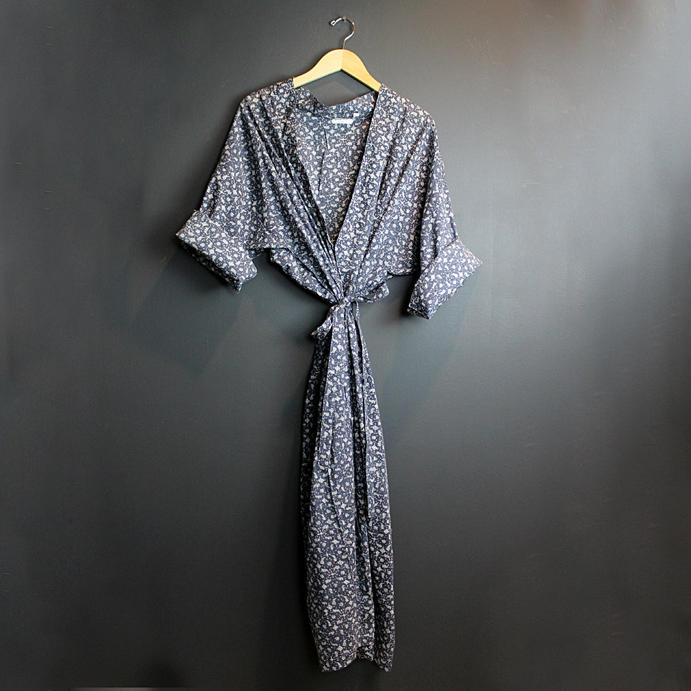 .Blue Cotton Robe