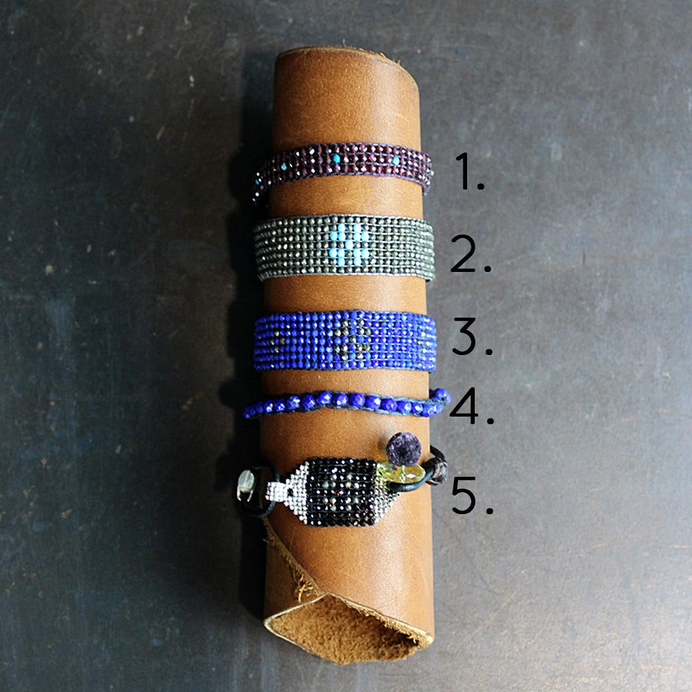 Multi Colored Hand-beaded Bracelet