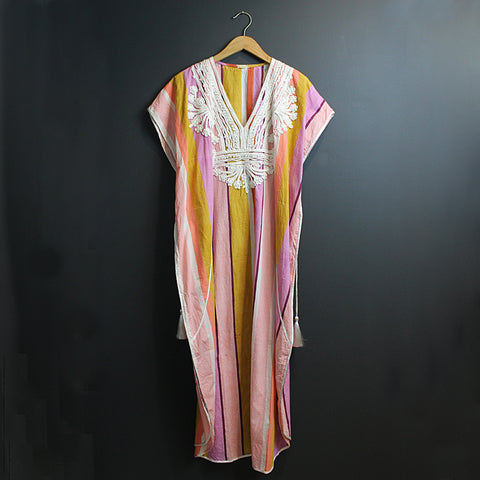 .Multi Colored Embellished Kaftan