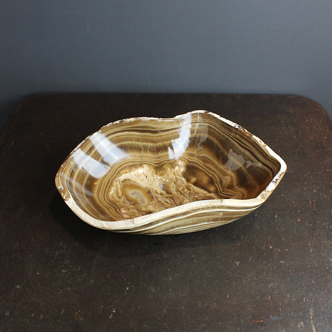 .Brown Onyx Bowl