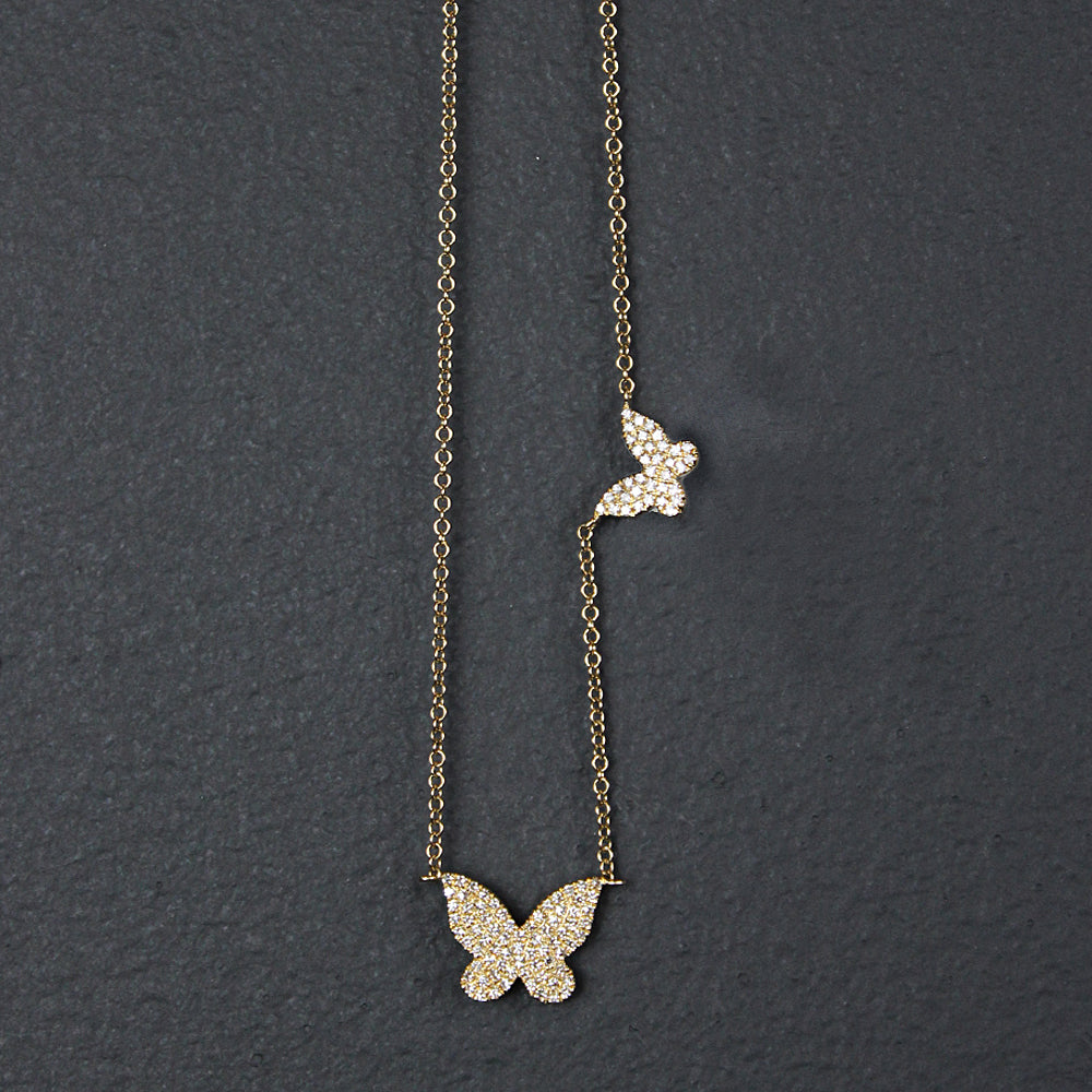 Gold 14K Butterfly Necklace