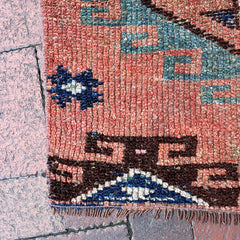 "Multi Colored Handwoven Turkish Runner - 3' 6"" x 11' 3"""