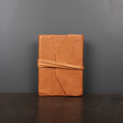 Brown Leather Wrap Journal - Refillable