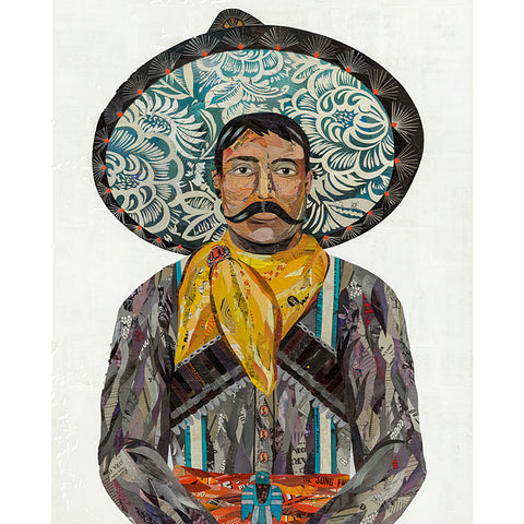 .Multi Colored Print - Charro Cowboy