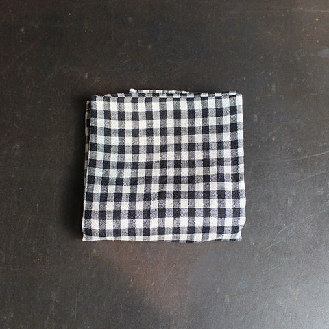 .Black + Neutral Checkered Napkin
