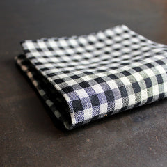 Black + Neutral Checkered Napkin